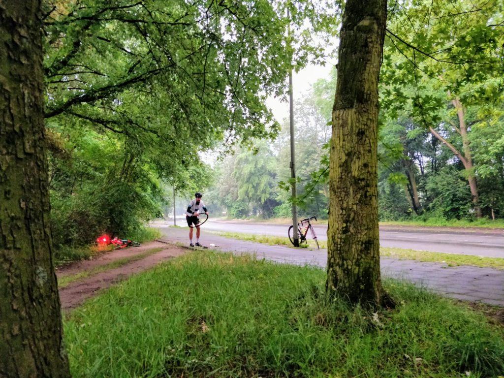 R2NSC Panne Platten bei fünf Kilometern Alex Kensy